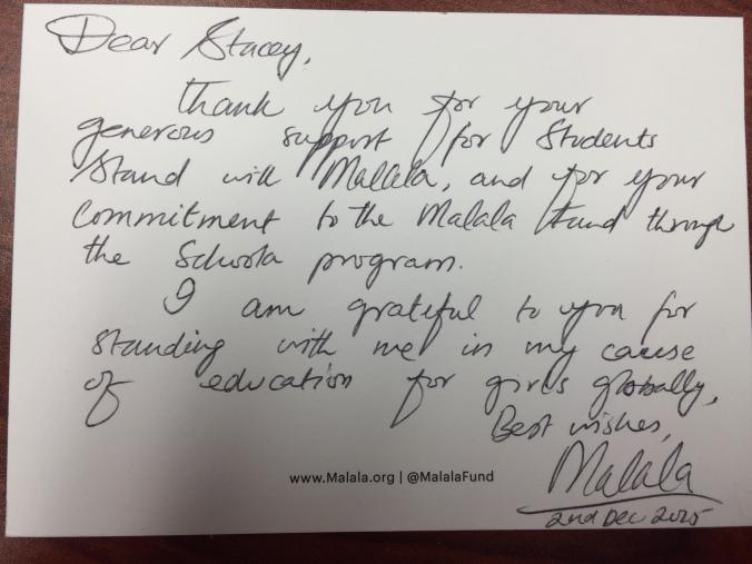 Malala Letter